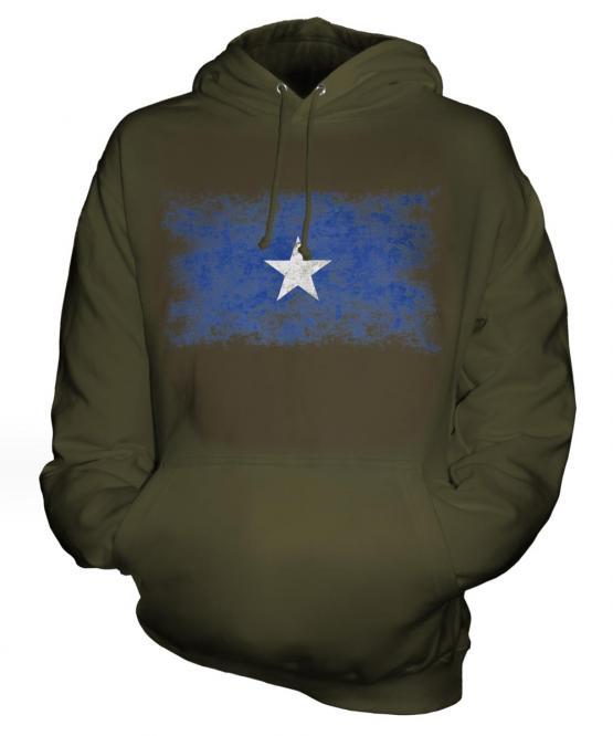 Somalia Distressed Flag Unisex Adult Hoodie