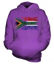 South Africa Distressed Flag Unisex Adult Hoodie