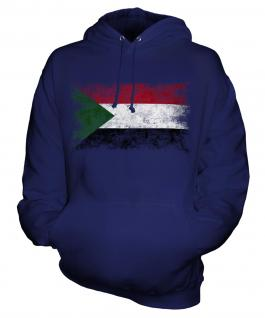 Sudan Distressed Flag Unisex Adult Hoodie