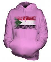 Sudan Distressed Flag Unisex Adult Hoodie