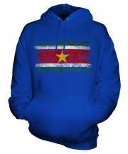 Suriname Distressed Flag Unisex Adult Hoodie