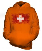 Switzerland Distressed Flag Unisex Adult Hoodie