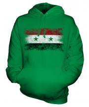Syria Distressed Flag Unisex Adult Hoodie