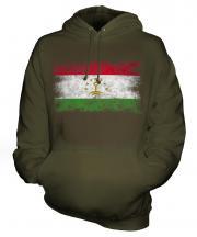Tajikistan Distressed Flag Unisex Adult Hoodie