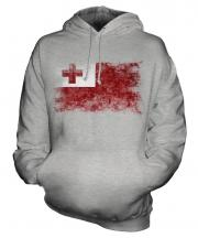 Tonga Distressed Flag Unisex Adult Hoodie