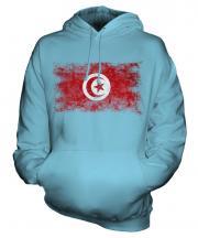 Tunisia Distressed Flag Unisex Adult Hoodie