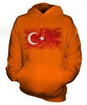 Turkey Distressed Flag Unisex Adult Hoodie