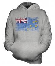Tuvalu Distressed Flag Unisex Adult Hoodie