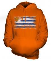 Uruguay Distressed Flag Unisex Adult Hoodie