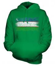 Uzbekistan Distressed Flag Unisex Adult Hoodie