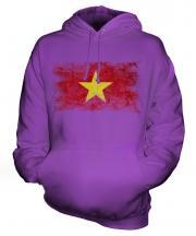 Vietnam Distressed Flag Unisex Adult Hoodie