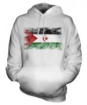 Western Sahara Distressed Flag Unisex Adult Hoodie