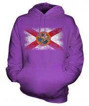 Florida State Distressed Flag Unisex Adult Hoodie