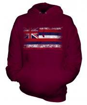 Hawaii State Distressed Flag Unisex Adult Hoodie