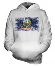 Idaho State Distressed Flag Unisex Adult Hoodie
