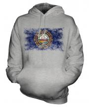 New Hampshire State Distressed Flag Unisex Adult Hoodie
