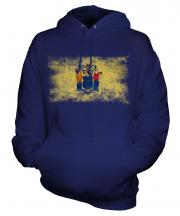 New Jersey State Distressed Flag Unisex Adult Hoodie