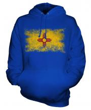 New Mexico State Distressed Flag Unisex Adult Hoodie