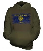 Oregon State Distressed Flag Unisex Adult Hoodie
