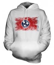 Tennessee State Distressed Flag Unisex Adult Hoodie