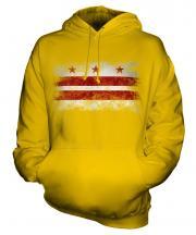 Washington Dc Distressed Flag Unisex Adult Hoodie