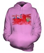 Manitoba Distressed Flag Unisex Adult Hoodie