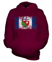 Northwest Territories Distressed Flag Unisex Adult Hoodie