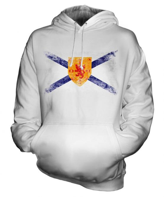 Nova Scotia Distressed Flag Unisex Adult Hoodie