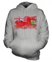 Ontario Distressed Flag Unisex Adult Hoodie