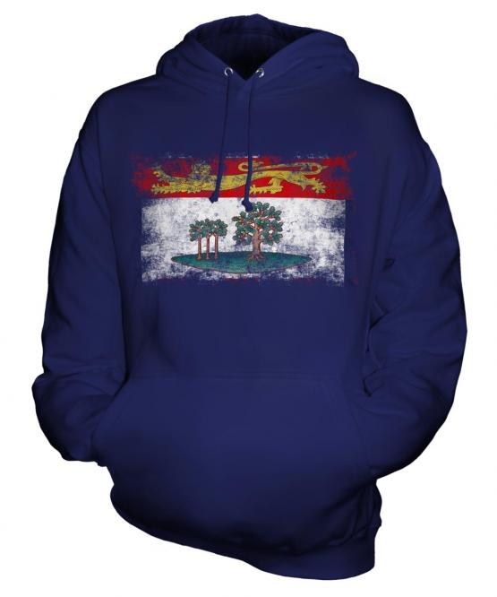 Prince Edward Island Distressed Flag Unisex Adult Hoodie