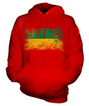 Saskatchewan Distressed Flag Unisex Adult Hoodie