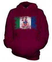 Yukon Distressed Flag Unisex Adult Hoodie