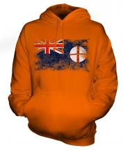 New South Wales Distressed Flag Unisex Adult Hoodie