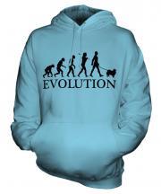 Keeshond Evolution Unisex Adult Hoodie