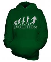 American Footballer Evolution Unisex Adult Hoodie