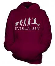 Footballer Evolution Unisex Adult Hoodie