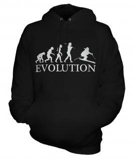 Downhill Skiing Evolution Unisex Adult Hoodie