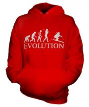 Downhill Skiing Evolution Unisex Adult Hoodie