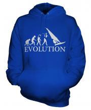 Windsurfer Evolution Unisex Adult Hoodie