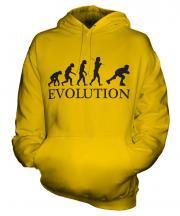 Roller Blading Evolution Unisex Adult Hoodie