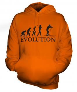 Cross Country Skiing Evolution Unisex Adult Hoodie