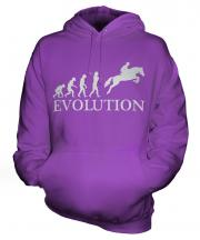 Horse Racing Steeplechase Evolution Unisex Adult Hoodie