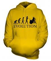Drummer Evolution Unisex Adult Hoodie