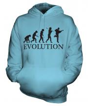 Acoustic Guitarist Evolution Unisex Adult Hoodie