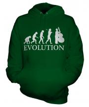 Double Bass Player Evolution Unisex Adult Hoodie