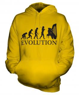 Harp Player Evolution Unisex Adult Hoodie