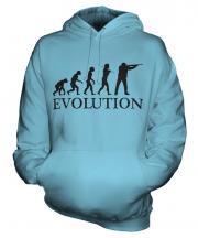 Clay Pigeon Shooting Evolution Unisex Adult Hoodie
