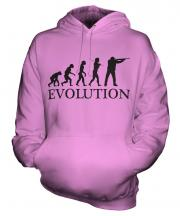 Clay Pigeon Shooting Evolution Unisex Adult Hoodie
