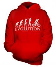 Mountain Bike Evolution Unisex Adult Hoodie
