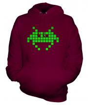 Neon Space Invader Unisex Adult Hoodie